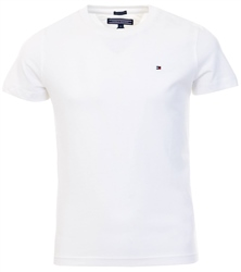 Bright White Essential Organic Cotton T-Shirt by Tommy Jeans