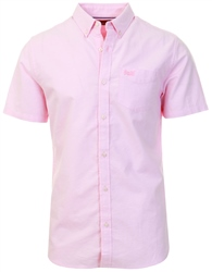 Superdry City Pink Classic University Oxford Short Sleeved Shirt