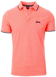 Superdry Cabana Coral Grit Poolside Pique Polo Shirt