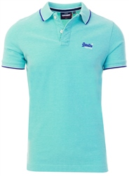 Superdry Spearmint Grit Poolside Pique Polo Shirt