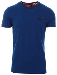 Superdry Navy Blue Feeder Orange Label Vintage Embroidered T-Shirt