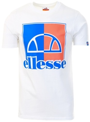 White Octagon T-Shirt by Ellesse