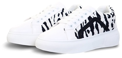 No Doubt White Zebra Print Trainers