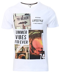 Sth Shore Optic White Lifestyle Printed T-Shirt