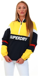 Superdry Springs Yellow Colour Block Overhead Jacket
