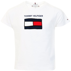 Tommy Jeans White Junior Organic Cotton Flag T-Shirt