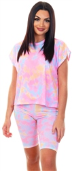 Missi Lond Tie Dye Ribbed Oversized Top