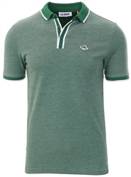 Le Shark Hunter Green Birdseye Pique Polo Shirt