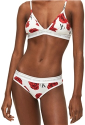 Calvin Klein Charming Roses One Cotton Thong