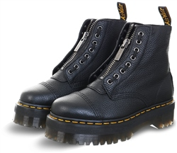 Dr Martens Black Milled Nappa Sinclair Leather Platform Boots