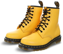 Dr Martens Yellow 1460 Smooth Leather Ankle Boots