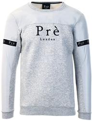 Grey Marl Crew Eclipse Sweater by Pre London