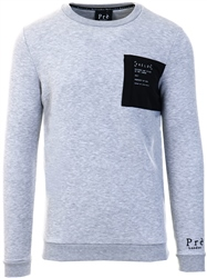 Pre London Grey Marl Anento Crew Sweater