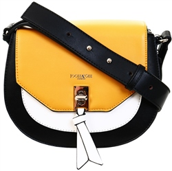 Jocee&Gee Black / White / Mustard Nova Shoulder Bag