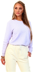 Orchid Petal / Melange Round Neck Knitted Pullover by Vila