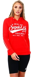 Apple Red Real Originals Piping Loopback Hoodie by Superdry