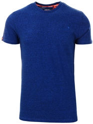 Superdry Vivid Cobalt Grit Orange Label Vintage Embroidery T-Shirt