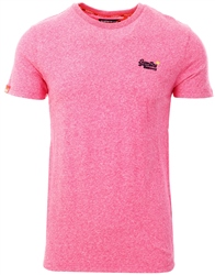 Superdry Pink Grit Orange Label Vintage Embroidery T-Shirt