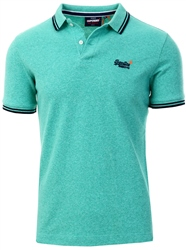 Superdry Sea Foam Twist Organic Cotton Classic Poolside Pique Polo Shirt
