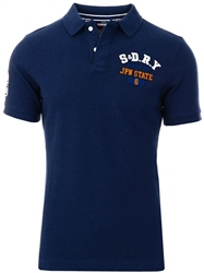 Ensign Blue Twist Classic Superstate Polo Shirt by Superdry