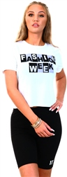 Noisy May Bright White Elly Fashion Week Tee