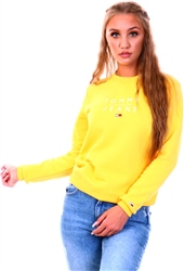 Tommy Jeans Star Fruit Yellow Essentials Slim Fit Logo Sweatshirt