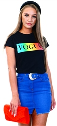 Black Vogue Fade Tee by Missi London
