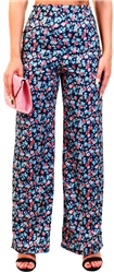Black Ditsy Floral Wide Leg Trouser by Urban Bliss
