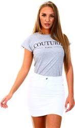 Grey Couture Tee by Missi London