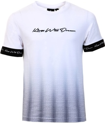 White/Black Farlow Fade Tee by Kings Will Dream