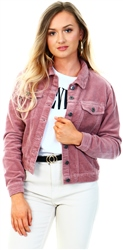 Jdy Wood Rose Pink Kiraz Corduroy Jacket