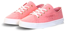Tommy Jeans Washed Water Melon Logo Embroidery Low-Top Trainers