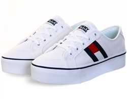 Tommy Jeans White Flag Flatform Trainers