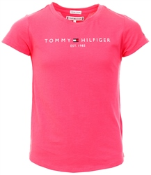 Tommy Jeans Glamour Pink Junior Essentials Organic Cotton Logo T-Shirt