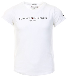 White Essentials Organic Cotton Logo T-Shirt by Tommy Jeans