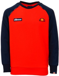Ellesse Navy / Red Zapha Raglan Sweat