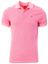Tommy Jeans Rosey Pink Cotton Pique Slim Fit Polo