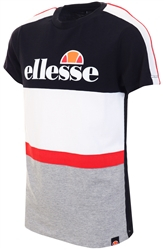 Ellesse Black / White /Grey Junior Ardinta Tee