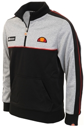 Ellesse Grey Marl/ Black Junior Trebiya Track Top