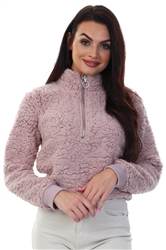 Brave Soul Blush Teddy Fleece