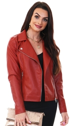 Only Red Ochre Melisa Faux Leather Jacket