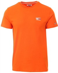 Tommy Jeans Bonfire Orange Organic Cotton Slim Fit T-Shirt