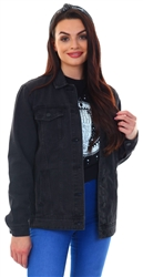 Noisy May Black Ole Long Denim Jacket