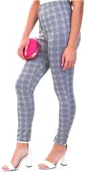 Pink Check Pants by Missi London