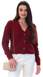 Veromoda Cagernet Leanna Long Sleeve Button Cardigan