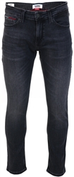 Black Scanton Slim Fit Distressed Stretch Jeans by Tommy Jeans