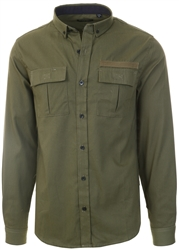 Brave Soul Khaki Long Sleeve Shirt