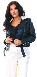 Only Black Hadley Teddy Biker Jacket