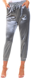 Ax Paris Grey Satin Joggers