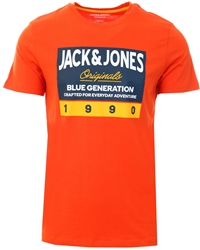 Jack & Jones Orange / Burnt Ochre Logo T-Shirt